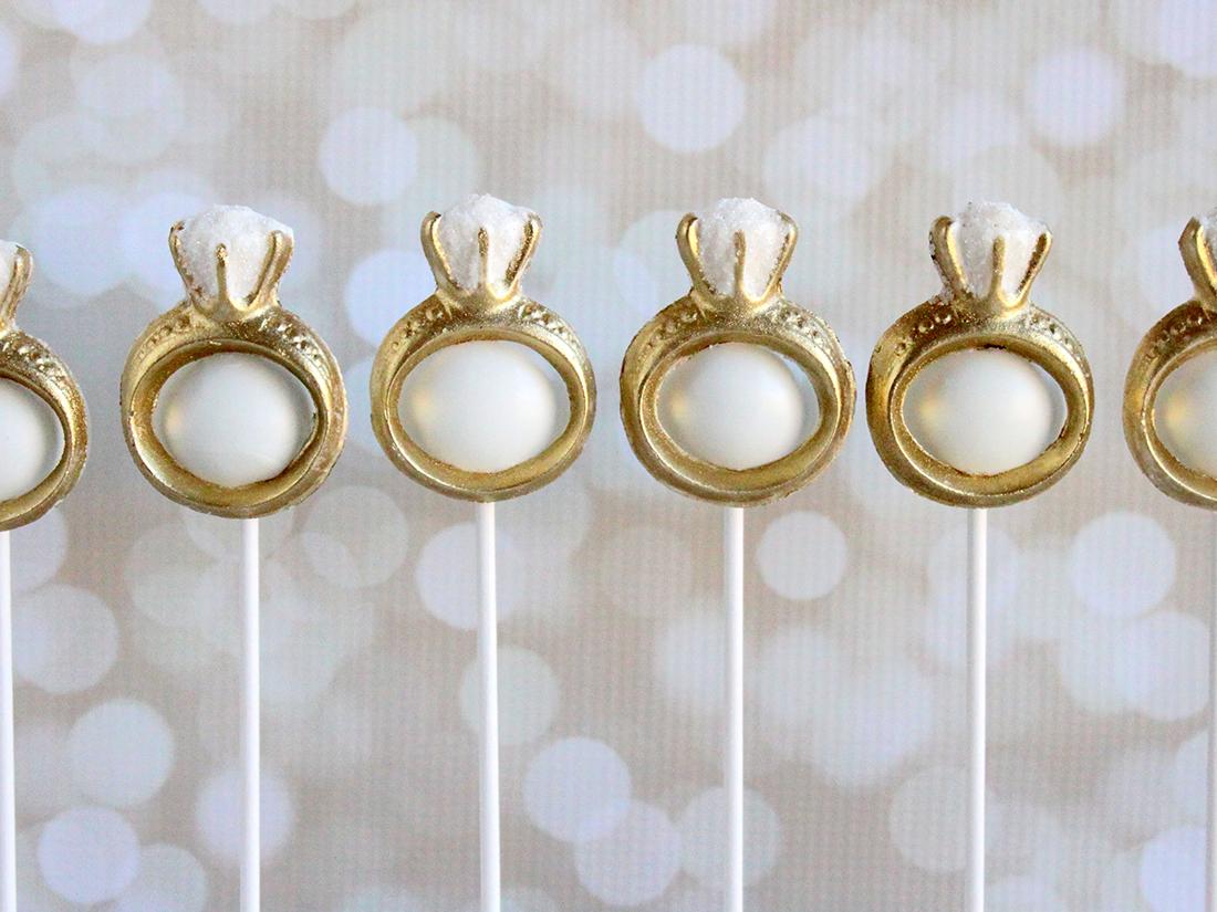 Engagement Ring Cake Pops